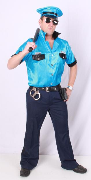 Macho police blouse/broek + riem + pet